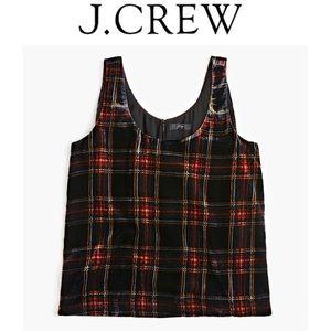 6 J.CREW Velvet Tank Top Stewart Tartan K2521